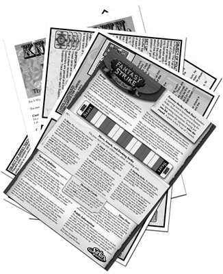 Black & White Card Game Rules Sheet