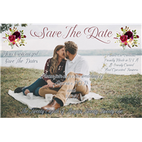 "4""x6"" Save The Dates (Your Design)"
