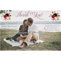 "4""x6"" Thank You Flat Post Cards (Your Design)"