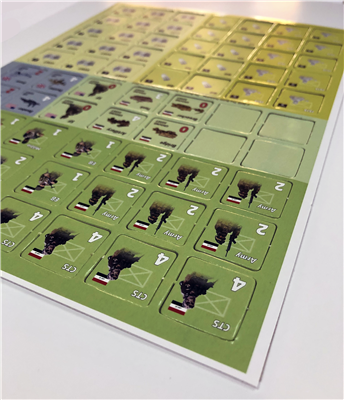 "1"" Square Game Counters with Rounded Corners"