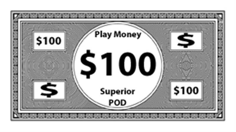 photo relating to Playing Money Printable identified as Improved Pod Print Upon Need - Substantial POD